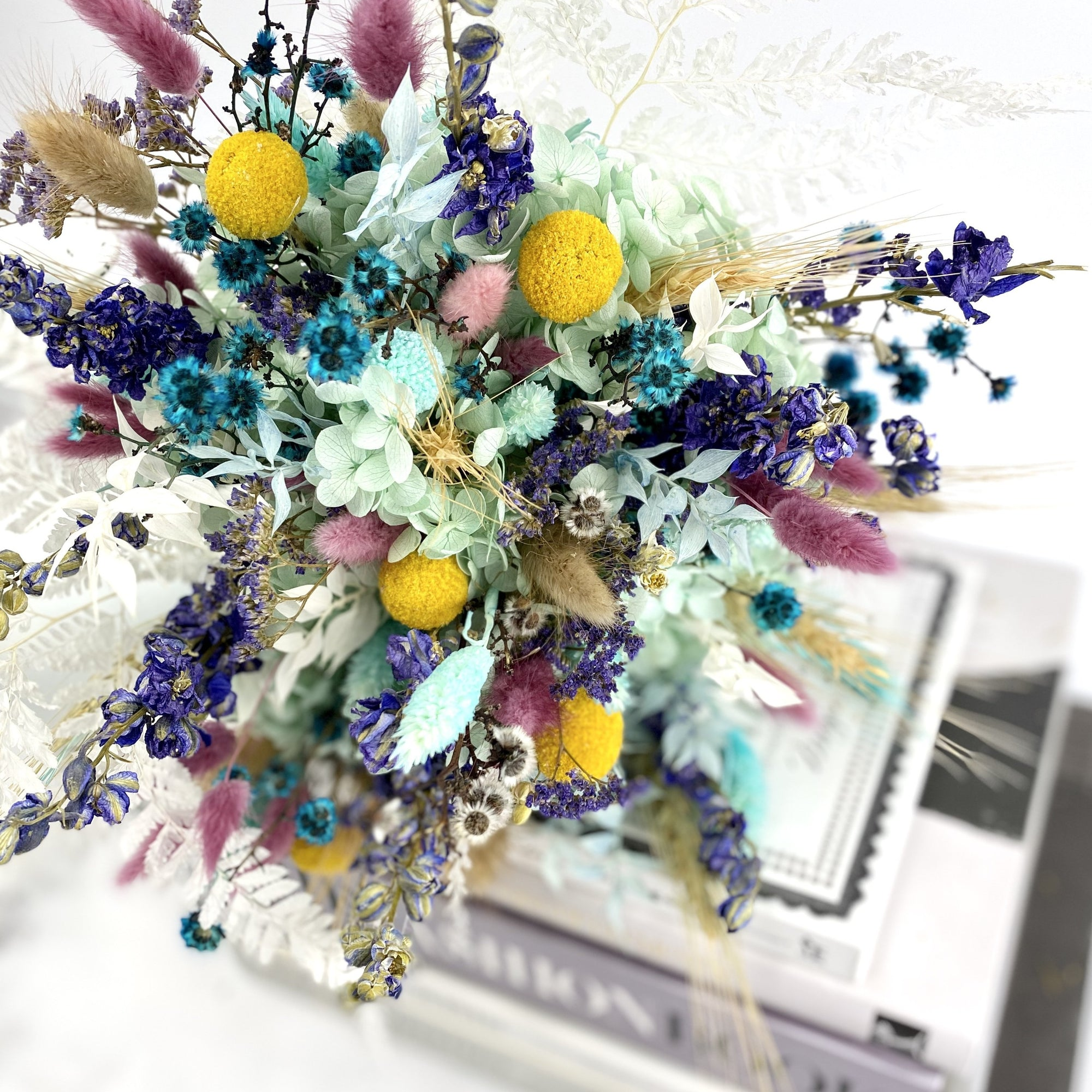 Dried Flowers Everlasting Bouquet Blue