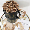 Ultimate Luxury Large Round Box with gold roses