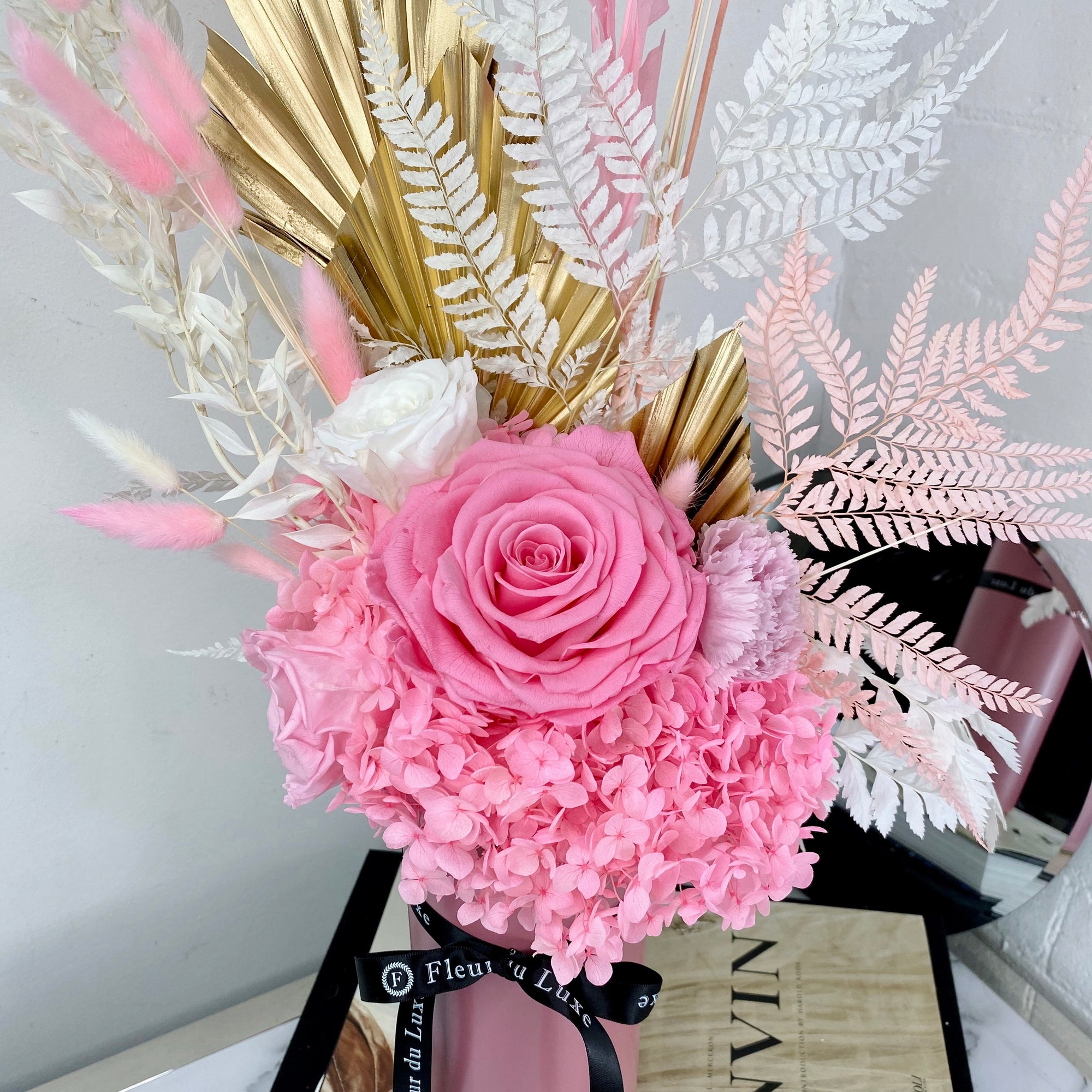 Dried Flowers Pink Hues