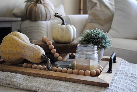 farmhouse, fixer upper, fall decor, pumpkins, sugar and succulents