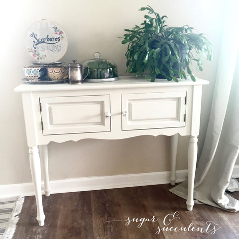 sugar and succulents, finished project, milk paint, DIY