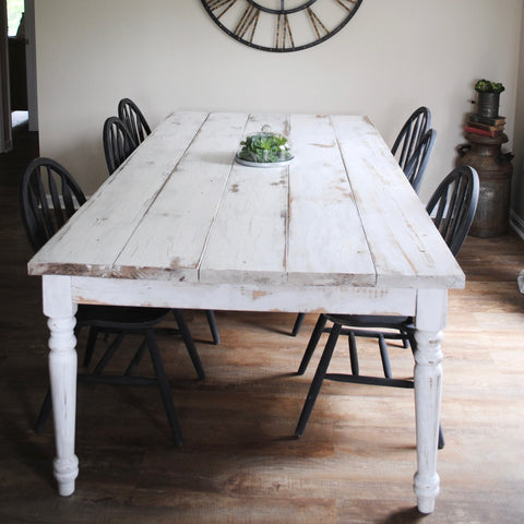 finished, done, table, complete, DIY, farm, house, farmhouse, milk, chalk, paint