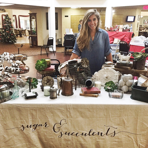 christmas in july, pittsburgh, sugar and succulents, booth, craft show, fair, vendor,