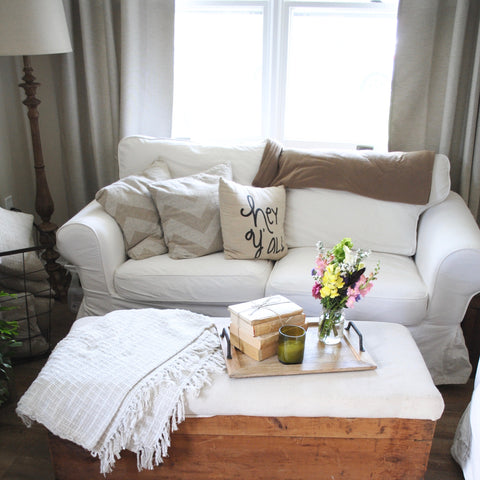 living space, ikea, couch, love, vignette, flowers, florals