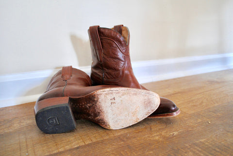 boots, tecovas, leather, cowboy, cowgirl, sugar and succulents, farmhouse