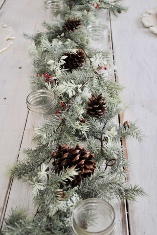 christmas, table, tablescape, dining table, setting, table setting, joanna gaines, fixer upper