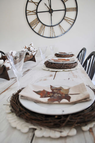 Thanksgiving, tablescape, table setting, fixer upper, joanna gaines, magnolia, sugar and succulents