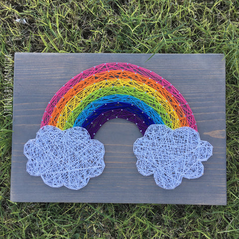 Rainbow String Art