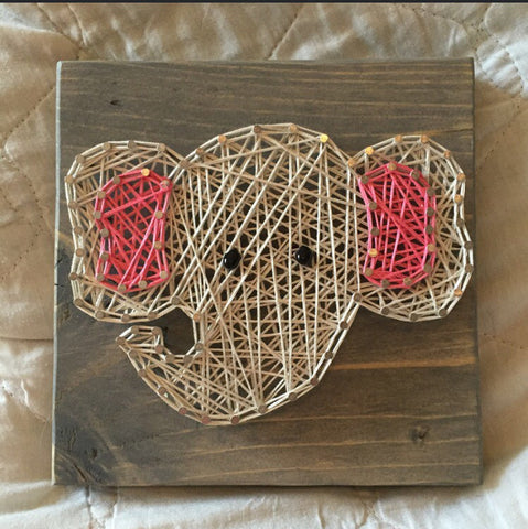 Elephant Sign String Art