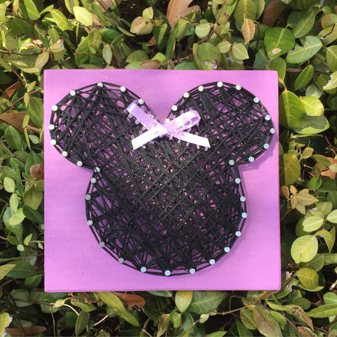 Minnie Mouse String Art