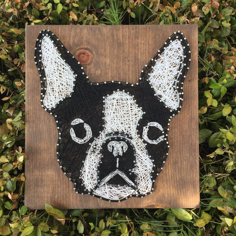 Boston Terrier String Art