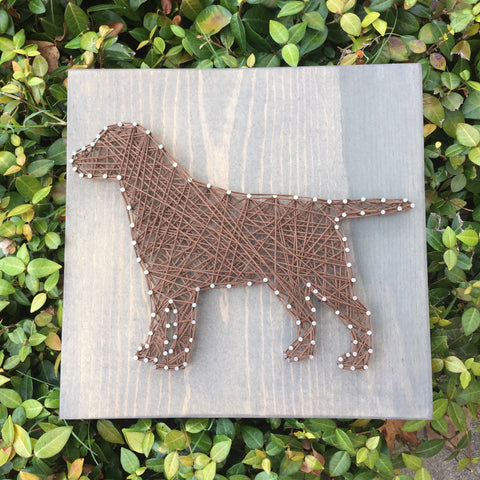 Dog String Art Sign