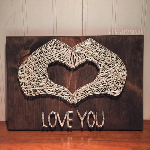 Love You String Art