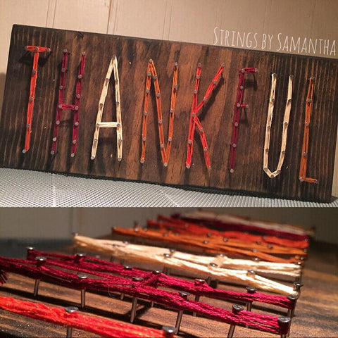 Skinny thankful String Art