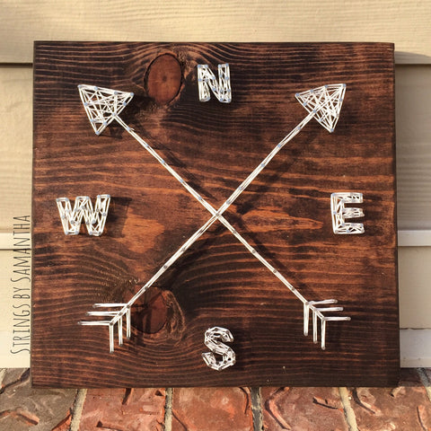 Compass & Arrows String Art