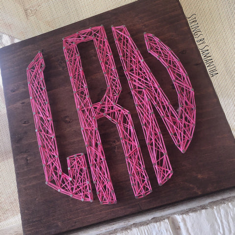 Circle Monogram String Art