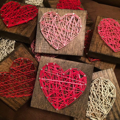 Mini Heart String Art