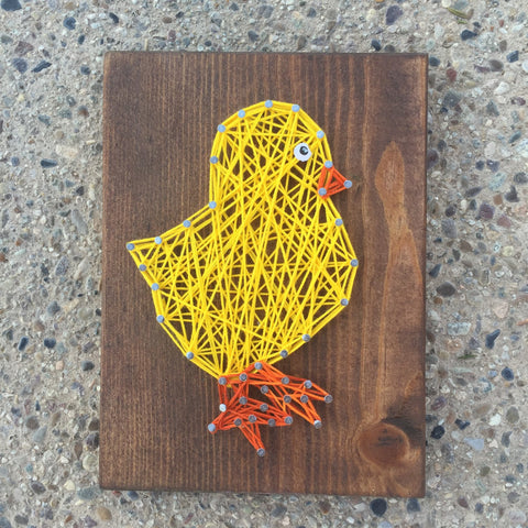 Chick String Art
