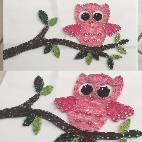 Owl on Branch String Art