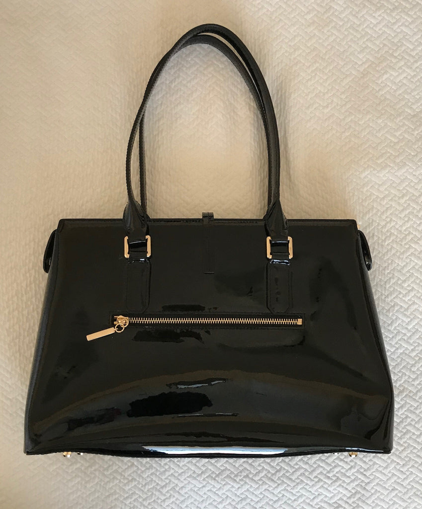 Little E NYC Black Patent Leather - Double Handle
