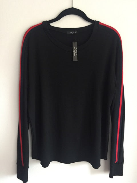 Racy Red Stripe Long Sleeve Tee