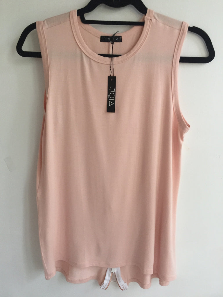 Zipper Back Sleeveless Tunic
