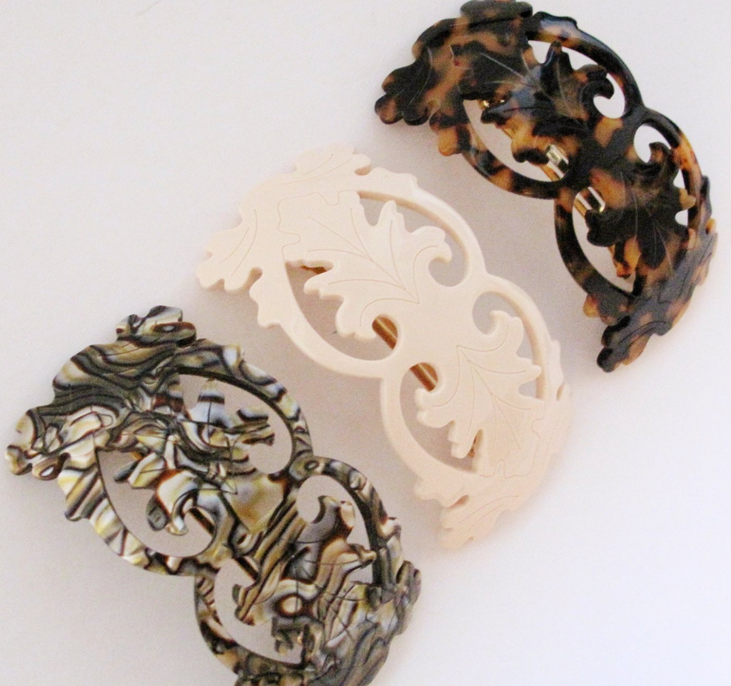 Volume French Filigree Barrette