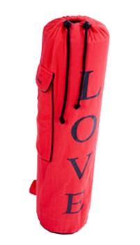 Yoga Mat Bag Red Love