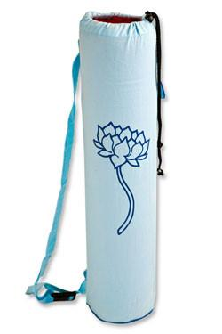Yoga Mat Bag Aqua Lotus Tree