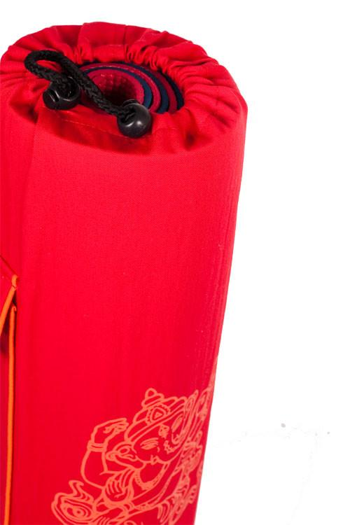 Yoga Mat Bag Red Ganesha