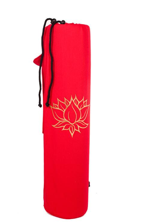 Yoga Mat Bag Red Lotus Foil