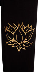 Yoga Mat Bag Black Lotus Foil