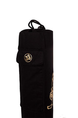 Yoga Mat Bag Black Ganesha Foil
