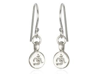 Silver Mini Ohm Earrings es285