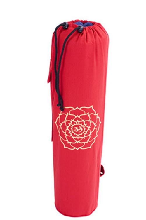 Yoga Mat Bag Red Ohm Lotus Foil