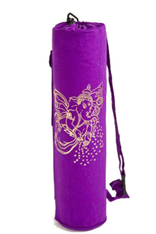 Yoga Mat Bag Purple Flying Ganesha Foil