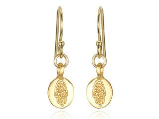 Gold Mini Hamsa Earrings eg283