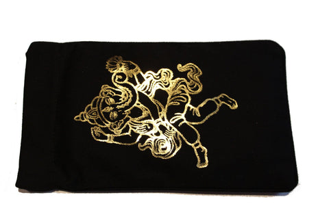 Eye Pillow Black Ganesha Foil
