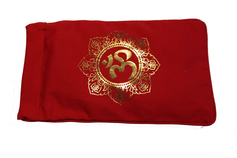 Eye Pillow Red Shiva Mandala Foil