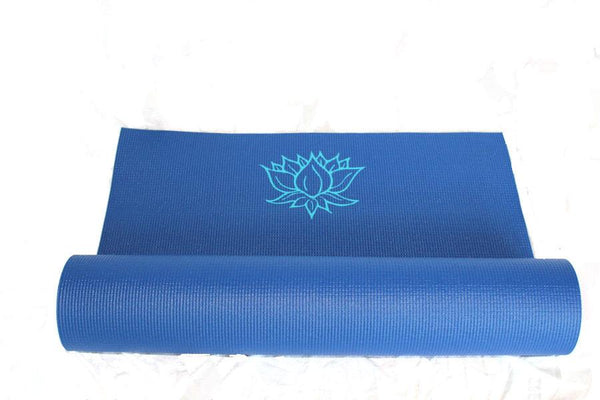 Yoga Mat Navy Lotus