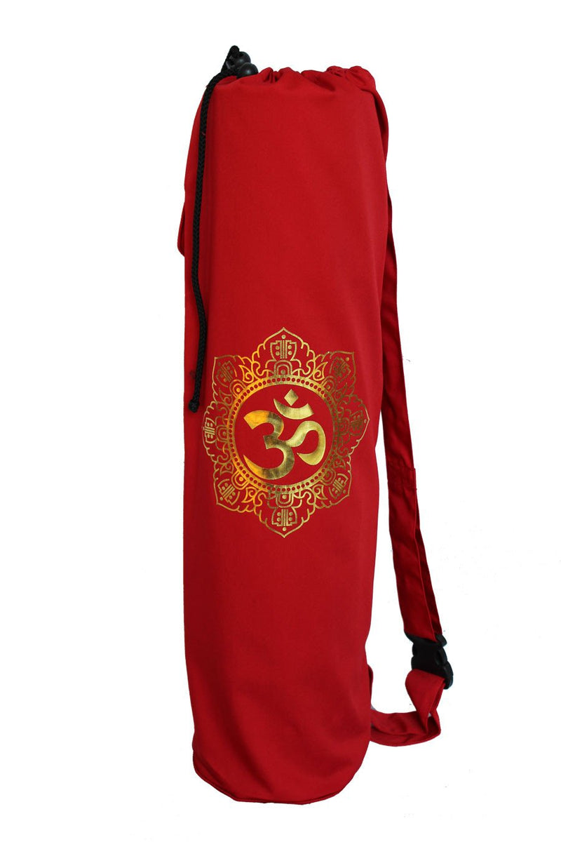 Yoga Mat Bag Red Shiva Mandala Foil