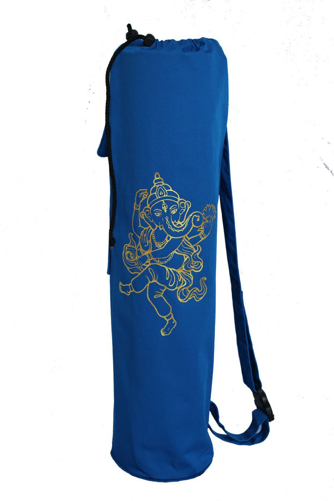 Yoga Mat Bag Navy Ganesha Foil