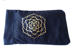 Eye Pillow Black Ohm Lotus Foil