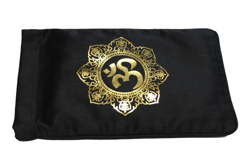 Eye Pillow Black Shiva Mandala Foil