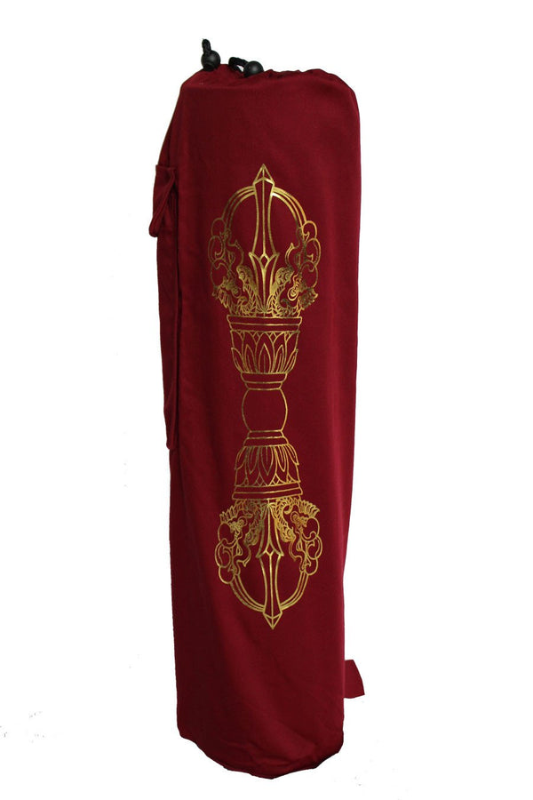 Yoga Mat Bag Burgundy Dorje Foil
