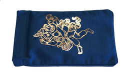 Eye Pillow Navy Ganesha Foil