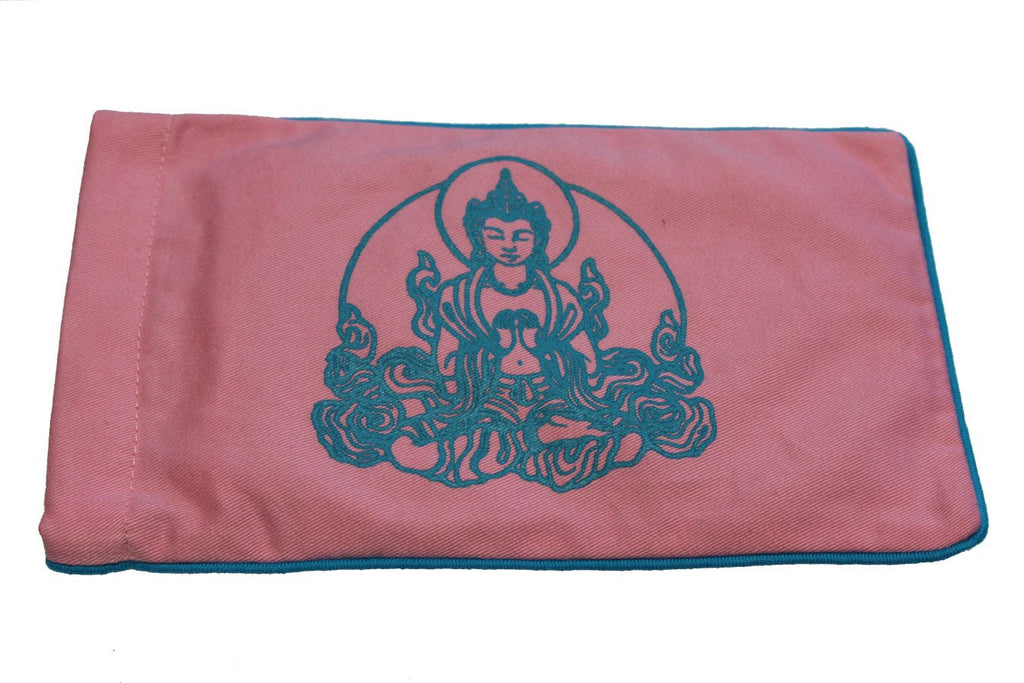 Eye Pillow Pink Buddha Turquoise