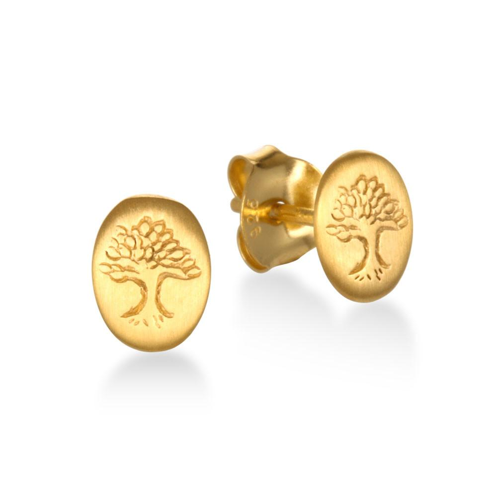 Gold Tree of Life Studs ceg061-tre
