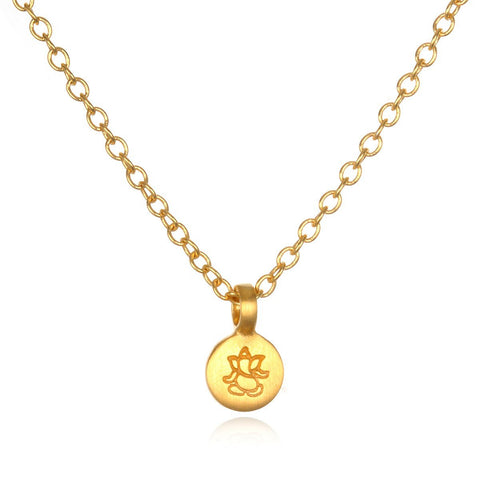 Gold Ganesha Mini Necklace cng0121-l18
