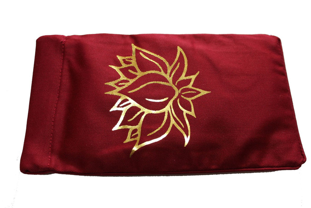 Eye Pillow Burgundy Lotus Foil
